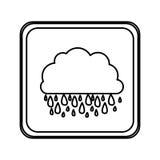 icône rainning de nuage d'emblème Photographie stock libre de droits