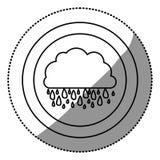 icône rainning de nuage de découpe Photos stock