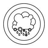 icône rainning et de chute de neige de nuage de silhouette Image stock