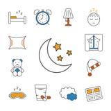 Icône rayée mince de sommeil Images stock