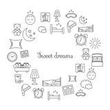 Icône rayée mince de sommeil Photographie stock libre de droits