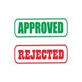 Icône rejetée approuvée Photos libres de droits