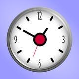 Icône ronde d'horloge murale Photo stock