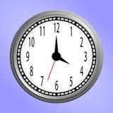 Icône ronde d'horloge murale Photos libres de droits