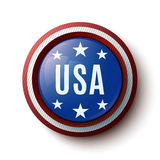 Icône ronde des Etats-Unis Images libres de droits