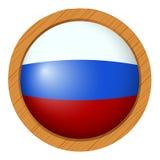 Icône ronde pour le drapeau de la Russie Photo libre de droits