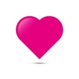 Icône rose de coeur Vecteur illustration libre de droits