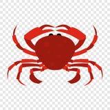 Icône rouge de crabe Photos libres de droits
