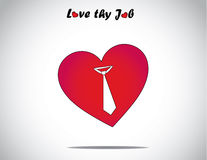 Icône rouge de forme d'amour ou de coeur avec un art de symbole de lien Photographie stock