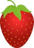 Icône rouge de fraise Photos libres de droits