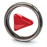 Icône rouge de jeu Photos stock