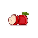 Icône rouge de pomme Photo libre de droits