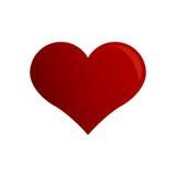 Icône rouge de Saint Valentin de coeur Photographie stock libre de droits