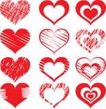 Icône rouge set2 de coeur Photo libre de droits
