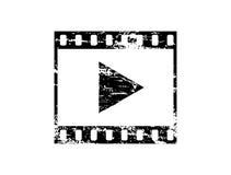 Icône sale de Media Player Image stock