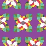 Icône sans couture de modèle de fleur Image stock