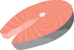 Icône saumonée Photos stock