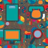 Icône 2 Seamless Pattern Company d'affaires Image libre de droits