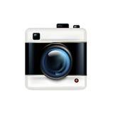 Icône simple d'appareil-photo d'isolement sur le blanc illustration stock