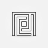 Icône simple de labyrinthe Photographie stock libre de droits