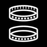 Icône simple de vecteur de collier de BDSM Illustration noire et blanche d'accessoire de sexe Icône adulte linéaire d'ensemble Image libre de droits