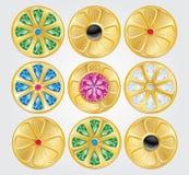 Icône simple de Web dans : bijoux Photos libres de droits