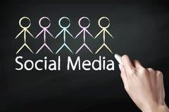 Icône sociale de media Image libre de droits