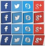 Icône sociale de media Image stock