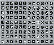 Icône sociale de media Photographie stock