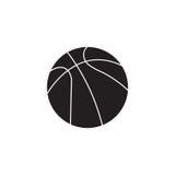 Icône solide de boule de basket-ball, sport, graphiques de vecteur Photographie stock
