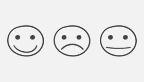 Icône souriante tirée par la main illustration libre de droits
