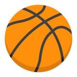 Icône, sport et jeu plats de boule de basket-ball Images libres de droits