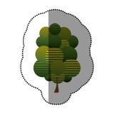 icône stylisée d'arbre de timbre Photo stock
