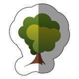 icône stylisée d'arbre de timbre de couleur Photo libre de droits