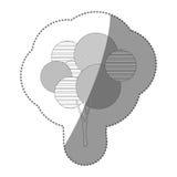 icône stylisée d'arbre de timbre de découpe Photo stock