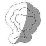 icône stylisée d'arbre de timbre de silhouette Image stock