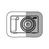 icône technologic d'appareil photo numérique de silhouette Photos libres de droits