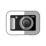 icône technologic noire d'appareil photo numérique Photos libres de droits