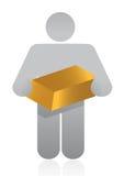 Icône tenant l'or illustration de vecteur