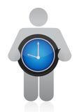 Icône tenant une montre illustration libre de droits