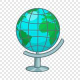 Ic?ne terrestre de globe, style de bande dessin?e illustration de vecteur