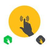 Icône un doigt de main Images libres de droits