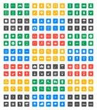 Icône universelle réglée - conception matérielle Image libre de droits