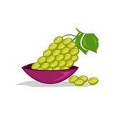 Icône verte de raisins Photo libre de droits