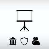 Icône vide, illustration de vecteur Style plat de conception Photographie stock libre de droits