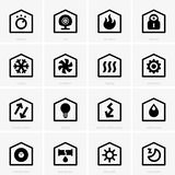 Icônes à la maison futées Photo stock