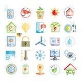 Icônes à la maison futées illustration de vecteur