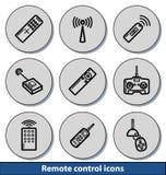 Icônes à télécommande légères Images libres de droits