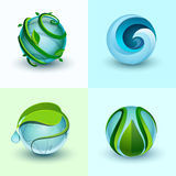 Icônes abstraites de l'eau Images libres de droits