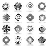 Icônes abstraites de spirale et de rotation Photo libre de droits
